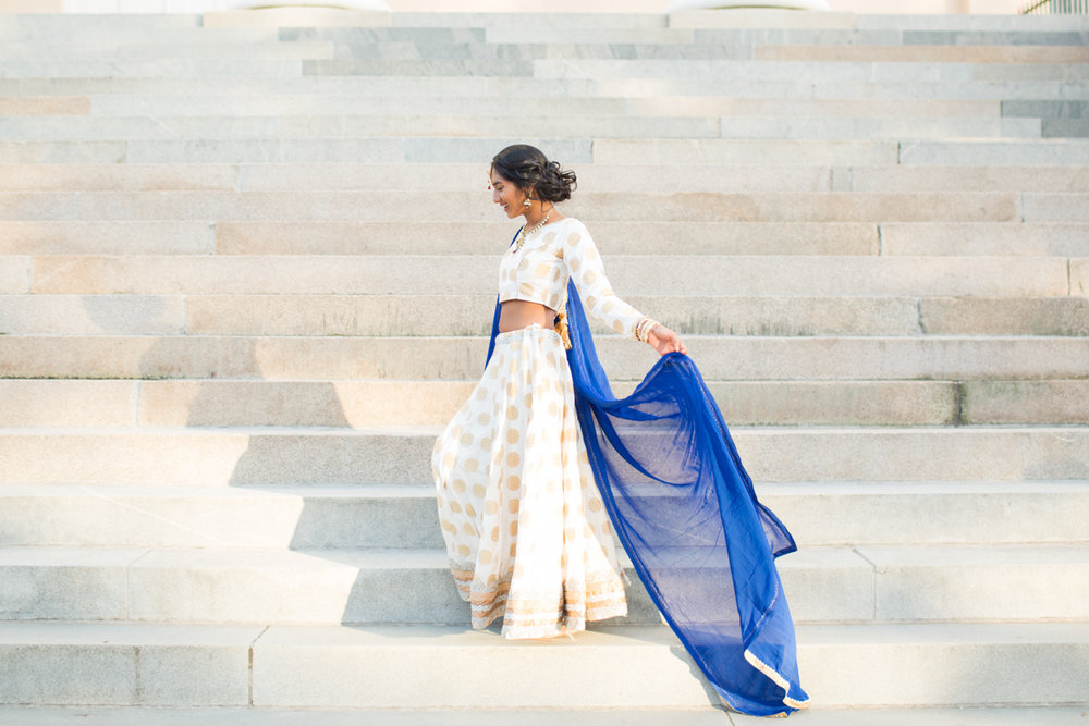 handmade indian bridal gown