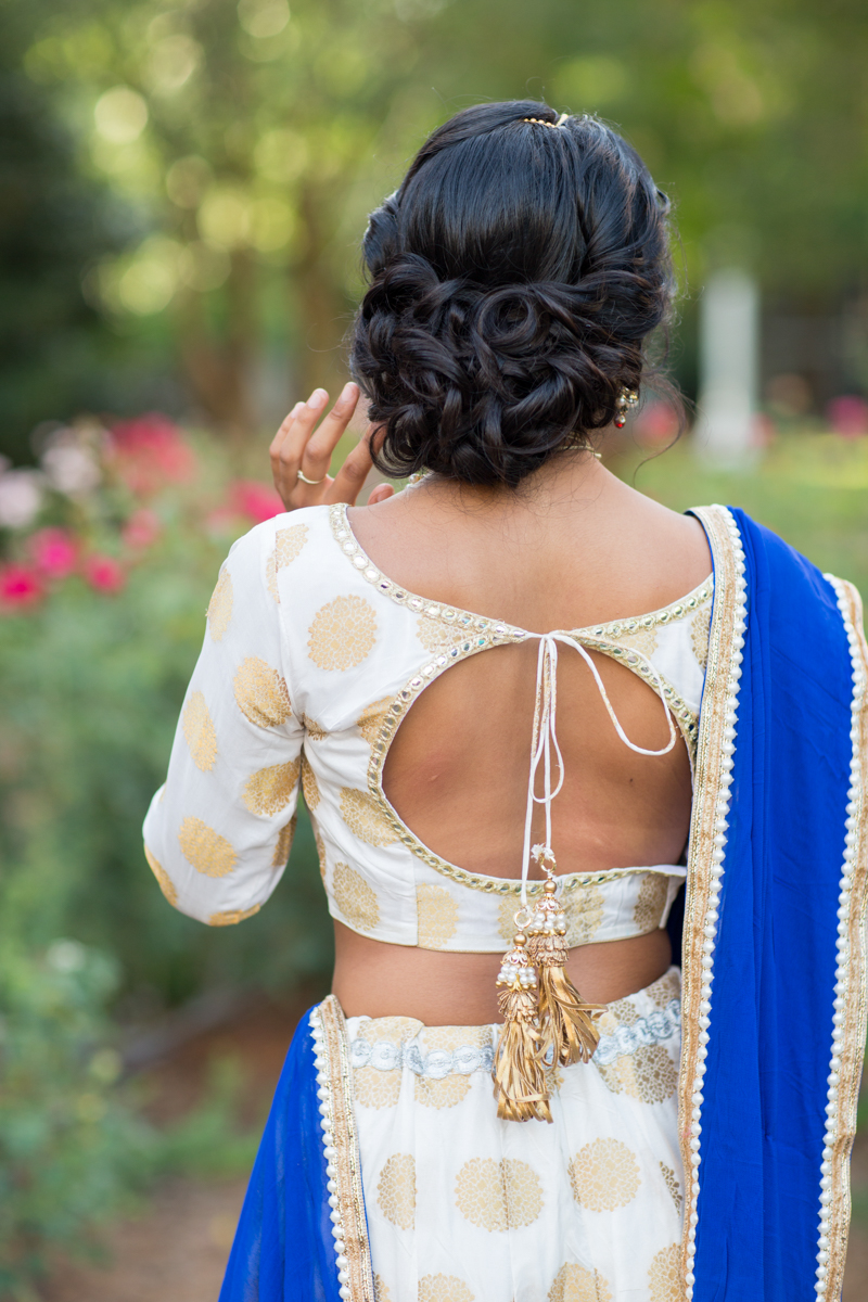 open back Indian bridal gown detail