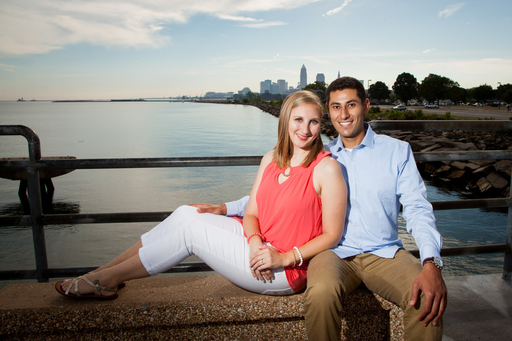 engagement photos at edgewater lake