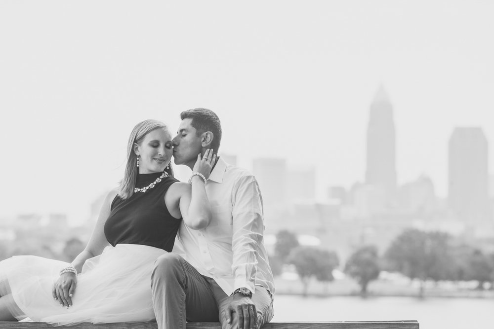 romantic engagement photos in Ohio