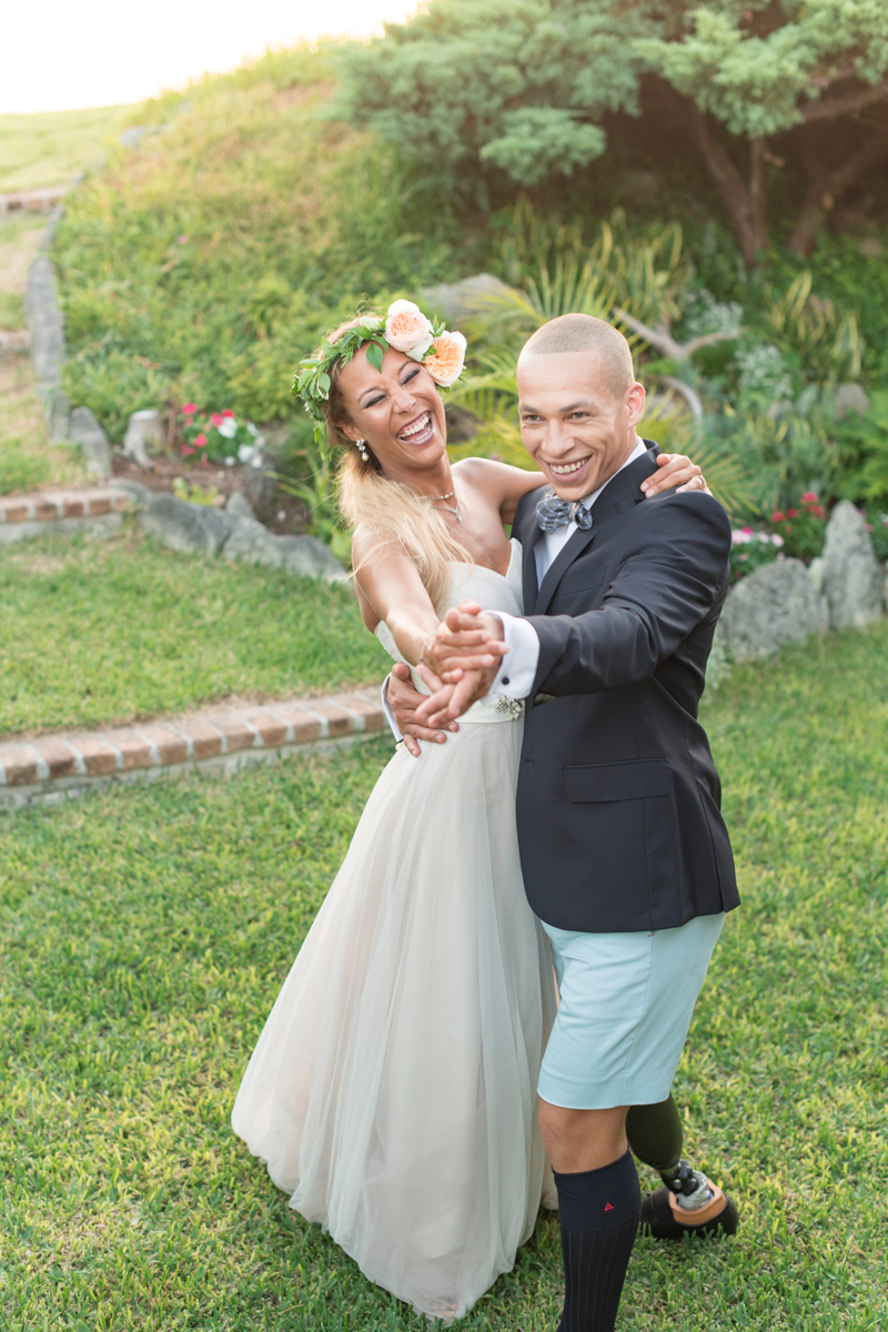 Interracial Bajan wedding