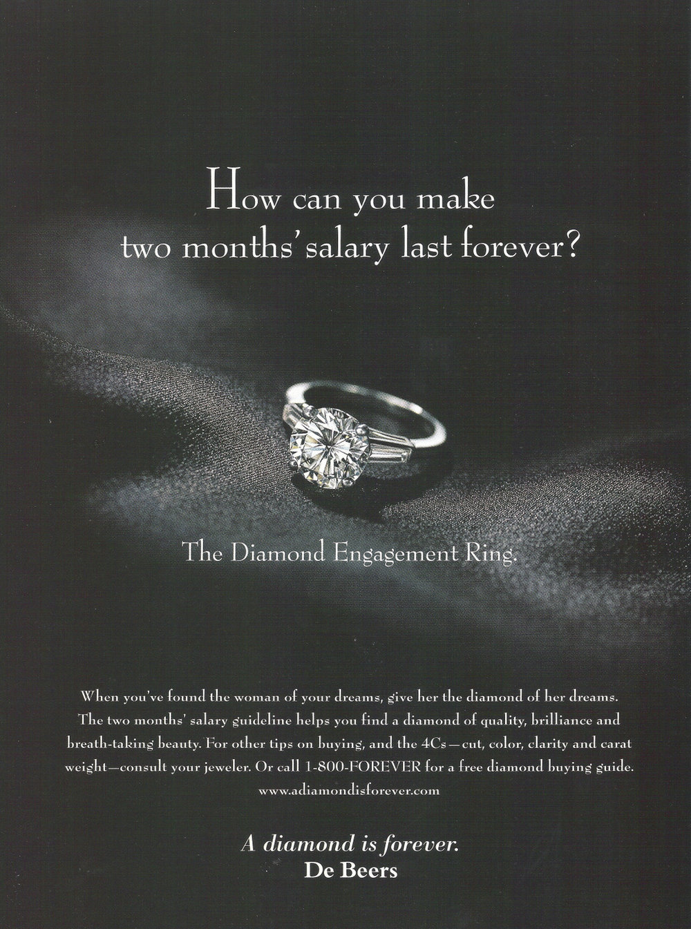 De Beers Diamonds Are Forever Ad