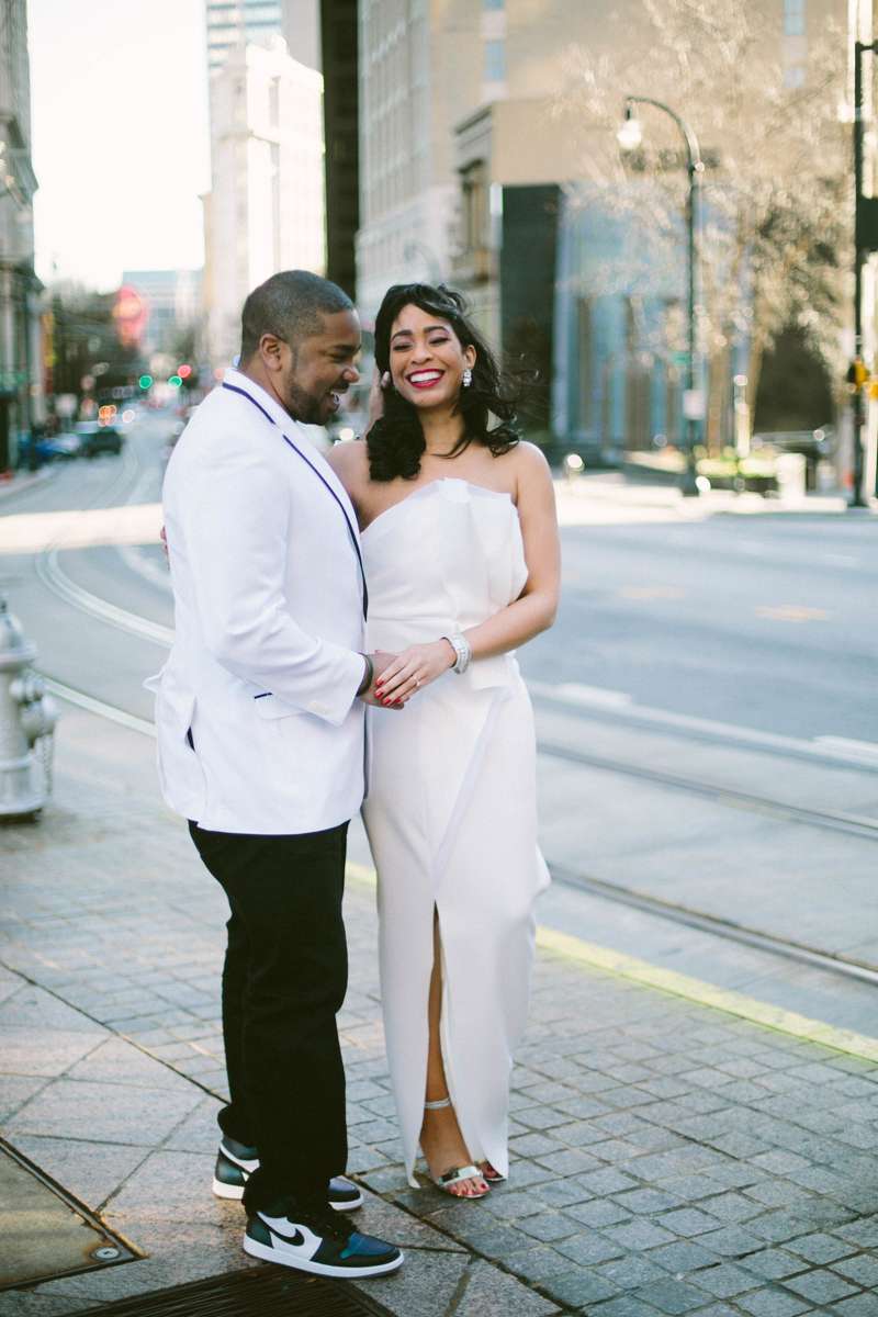 Modern Atlanta engagement photos