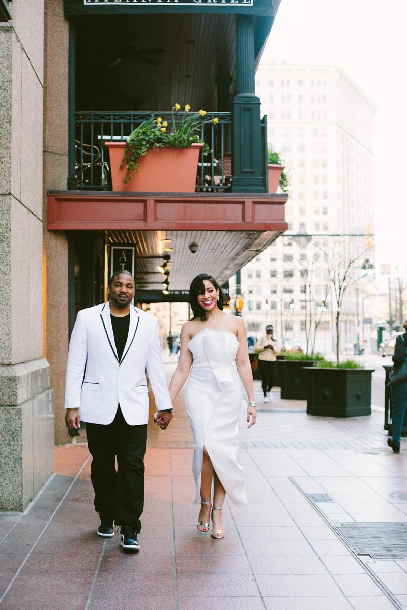 Engagement photos in downtown atlanta