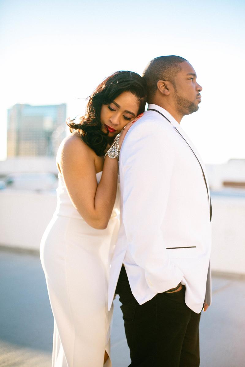 Modern, beautiful engagement photos in ATL