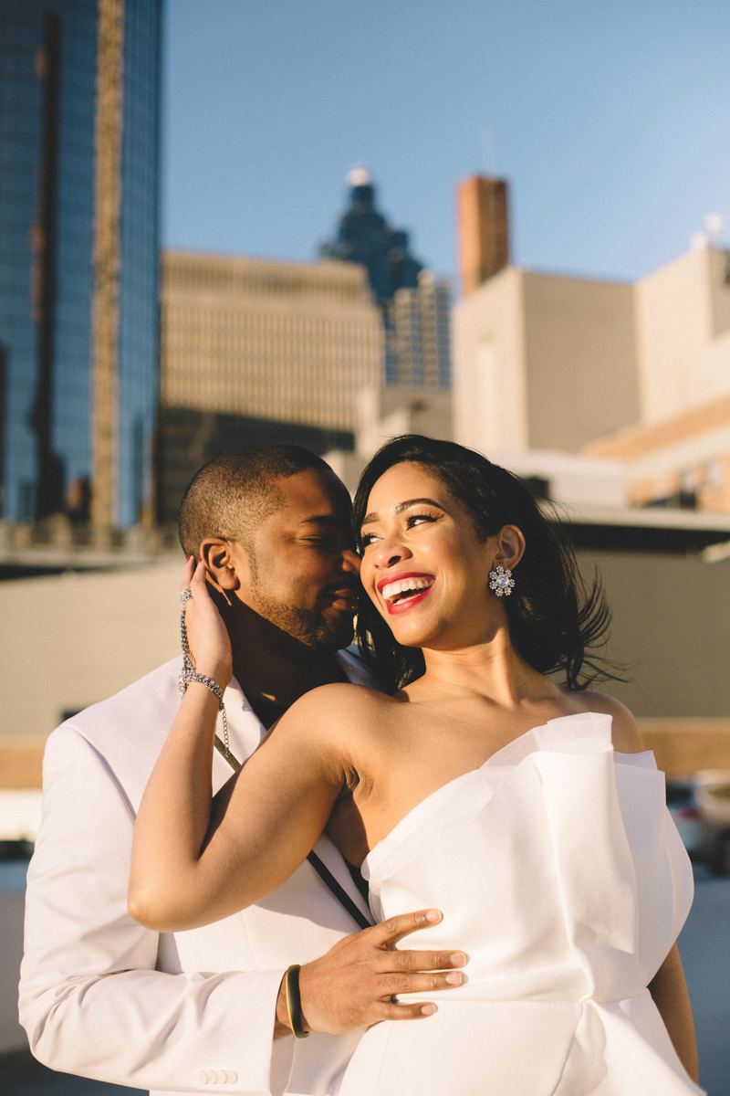 Real Couples // Modern Downtown Atlanta Engagement Shoot