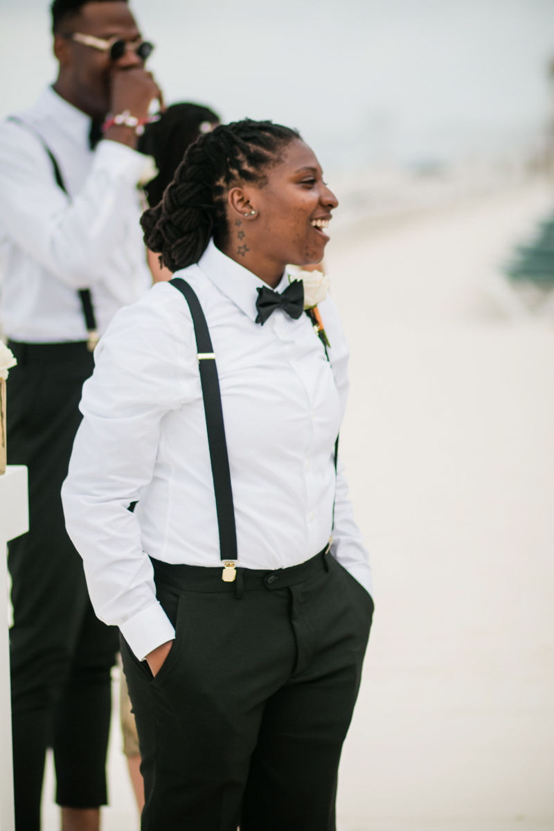 dapper bride in a bowtie
