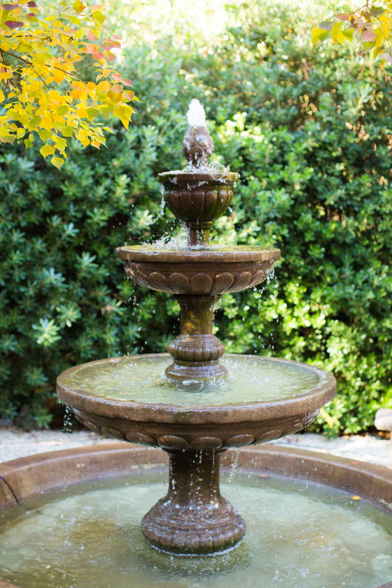 fountain in the garden at the river road and jasmine house