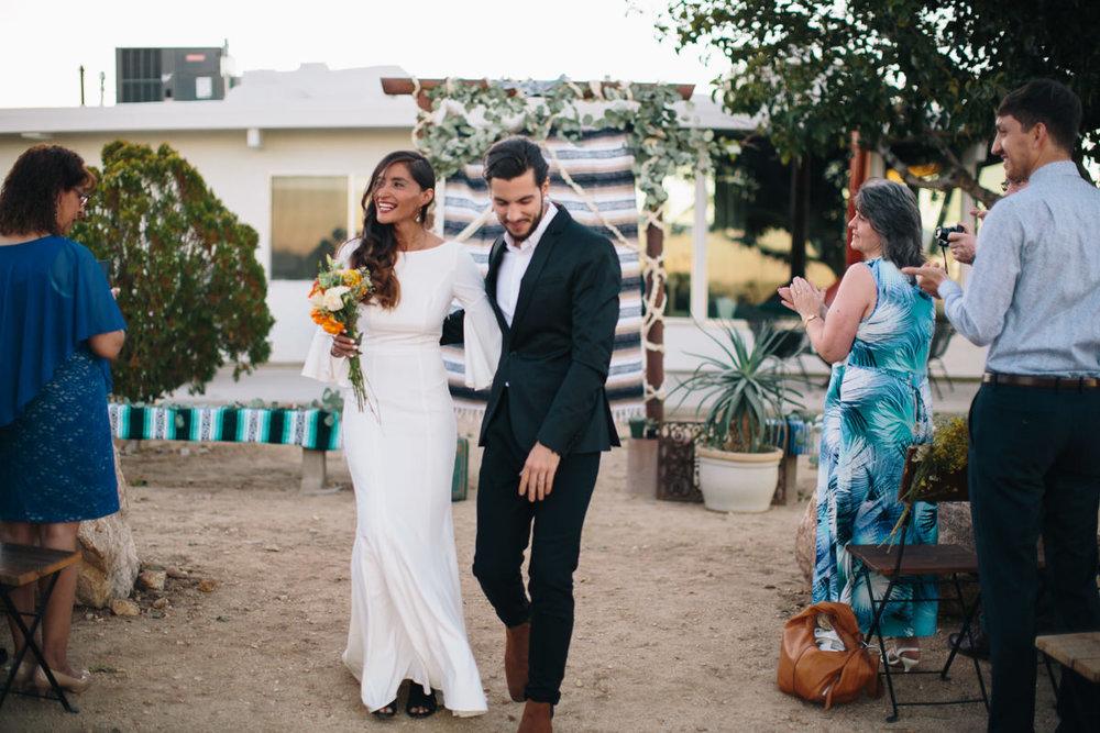Desert wedding ceremony