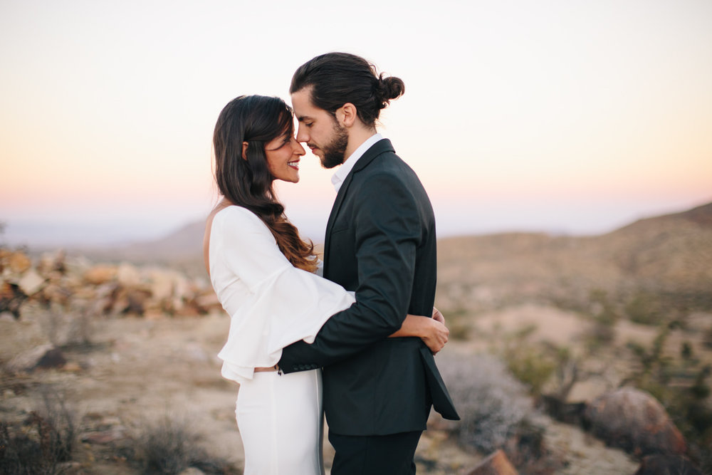 desert wedding photos at sunset