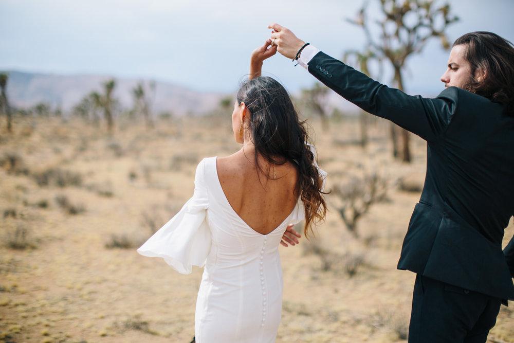 Intimate wedding in the desert