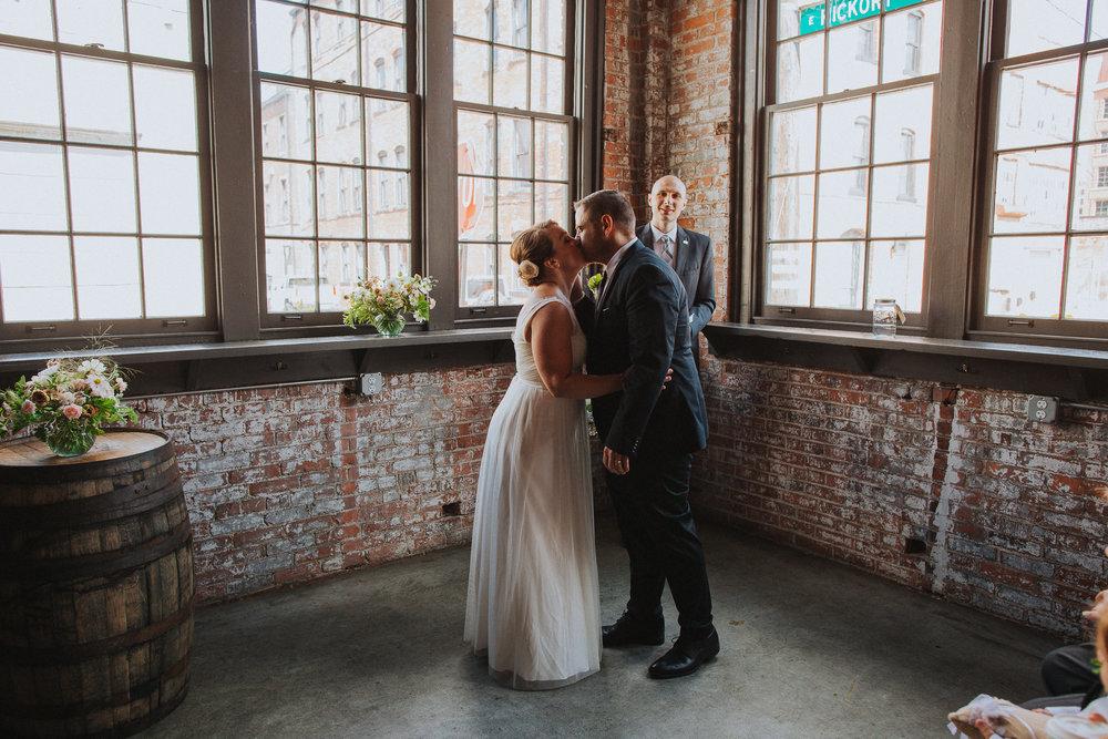 Rachel Joy Barehl Warehouse Brunch Wedding in Columbus