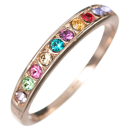 Modern Band of Colour Promise Ring