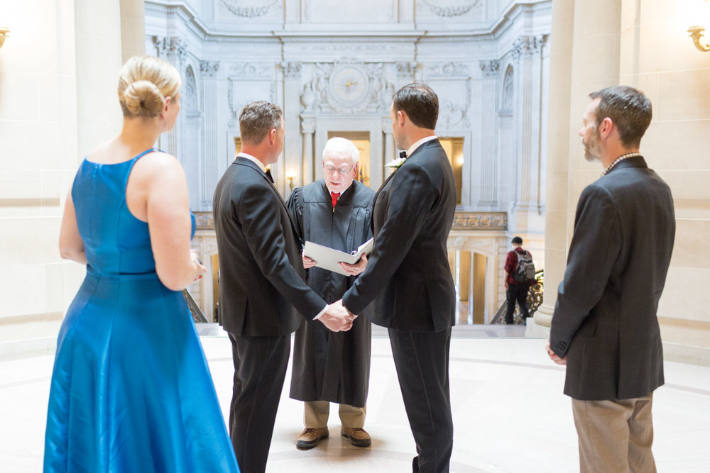 two grooms get married at San Francisco City Hall