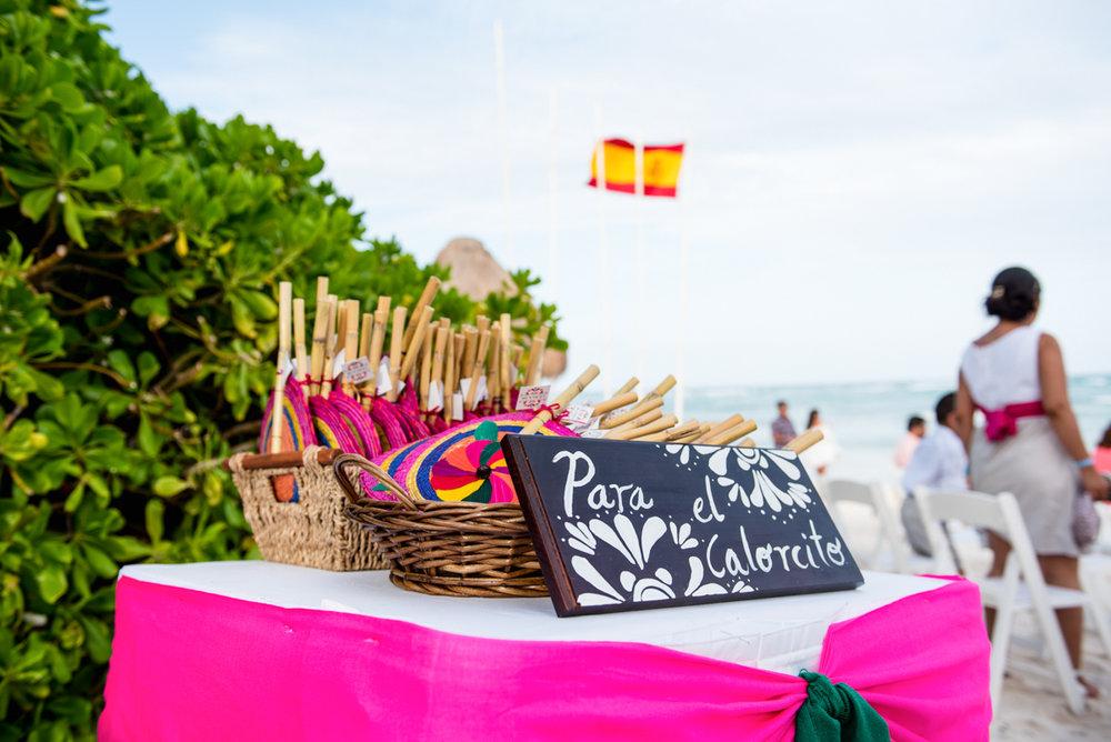 Beach wedding fan gifts
