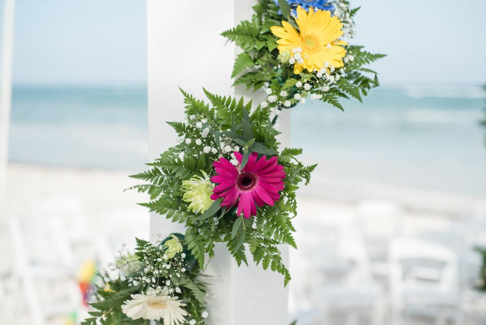 Mexican beach wedding decor