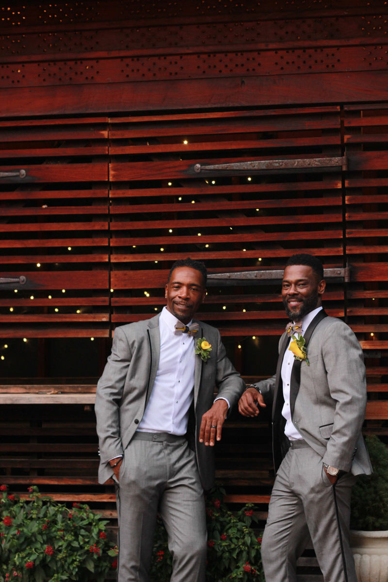 Two black grooms
