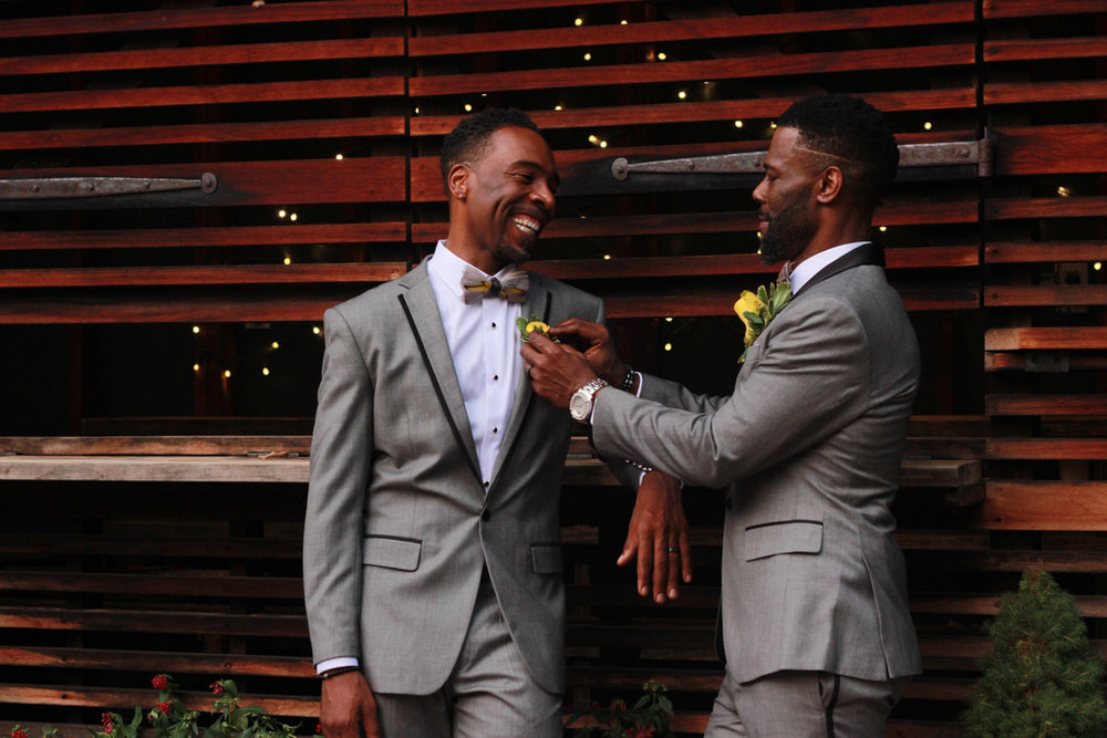 Handsome black grooms