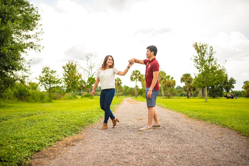 Asian-American engagement session in Orland