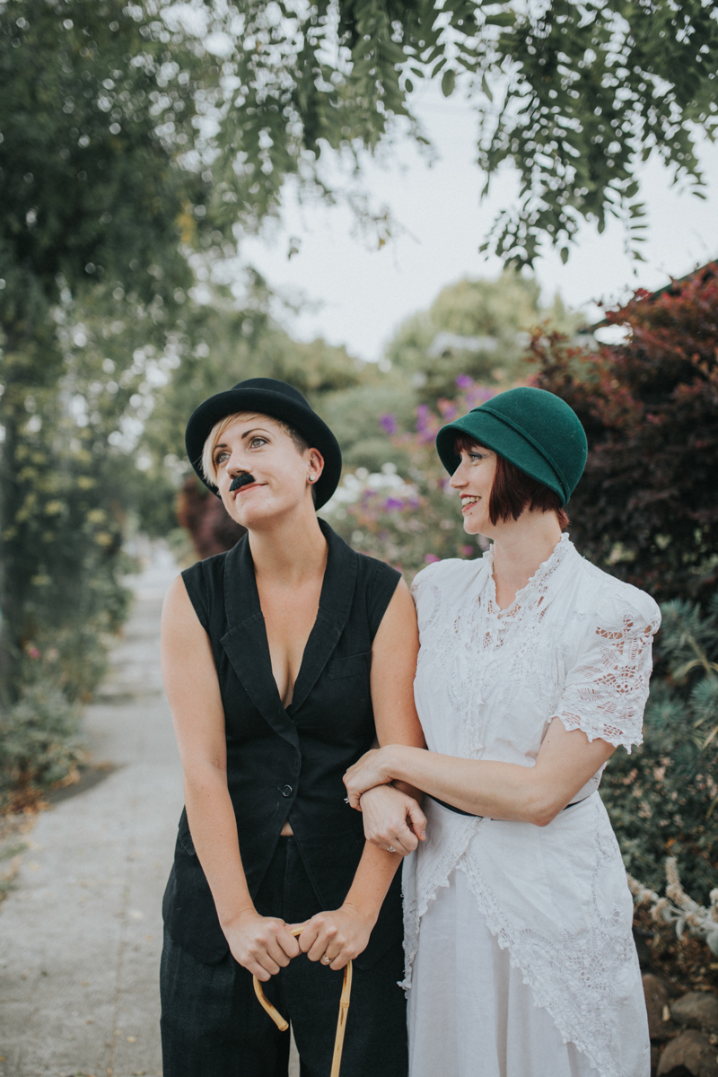 Queer engagement photos