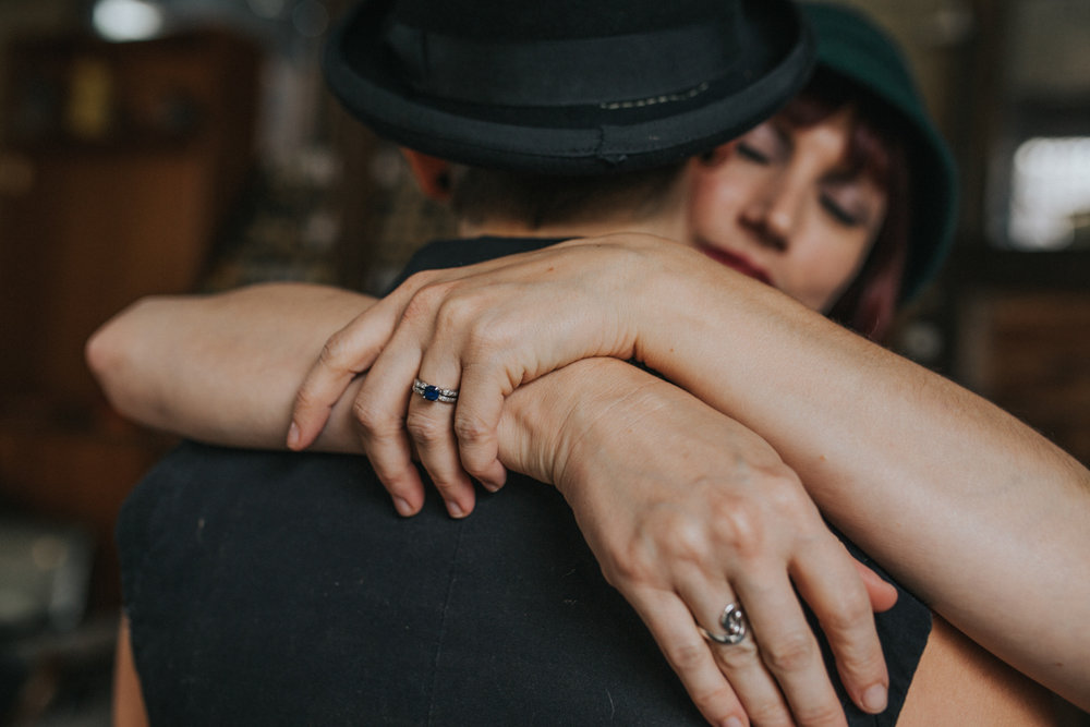 post wedding photo session with ring detail