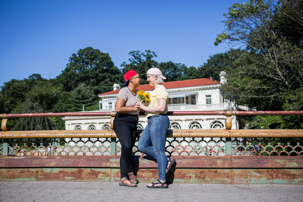 queer engagement session in prospect park