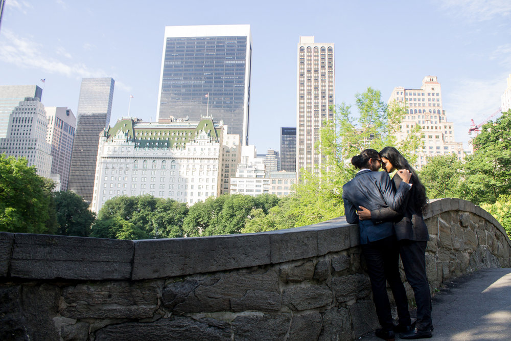 Central park queer engagement photos