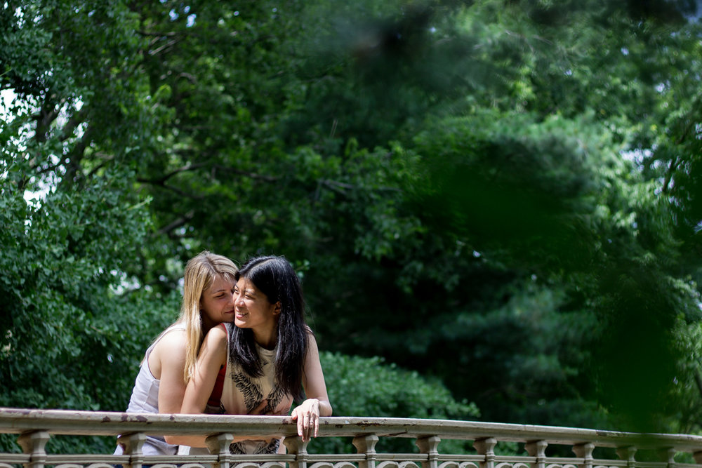 Gay central park engagement photos
