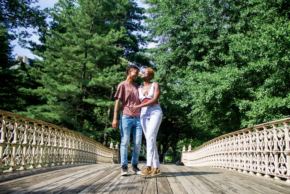 Queer anniversary photos in Central park