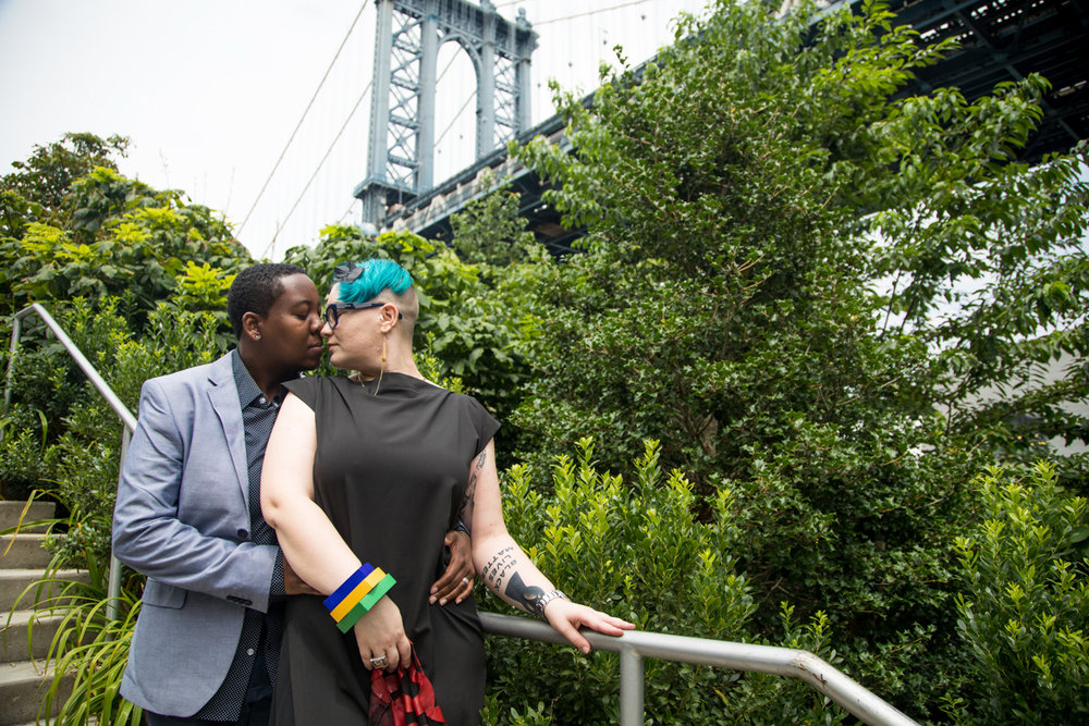 Queer couple in Brooklyn