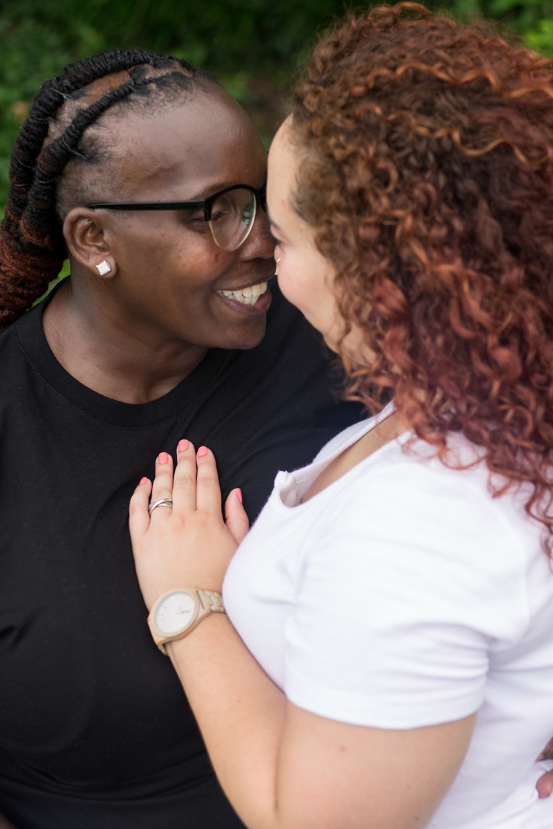 queer black couple in love