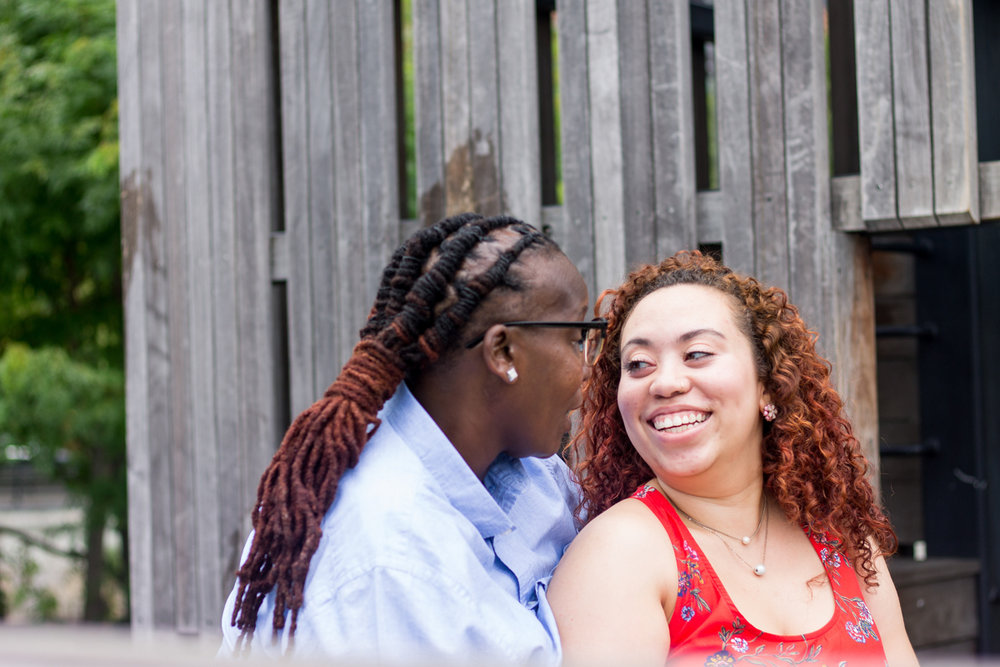 Black queer couple photographed by a black, queer wedding photographer