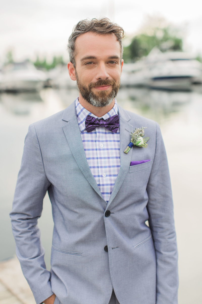 Groom portrait in bowtie