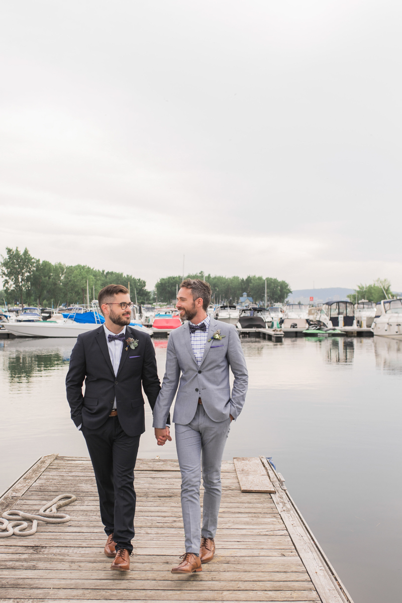wedding on a boating dock