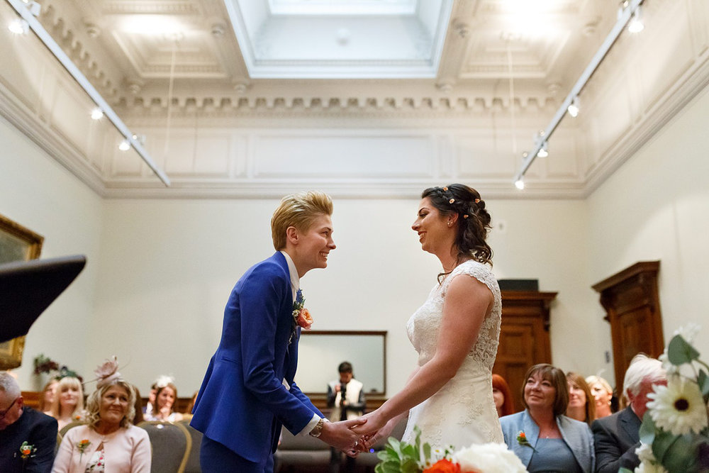 lesbian wedding ceremony in Liverpool