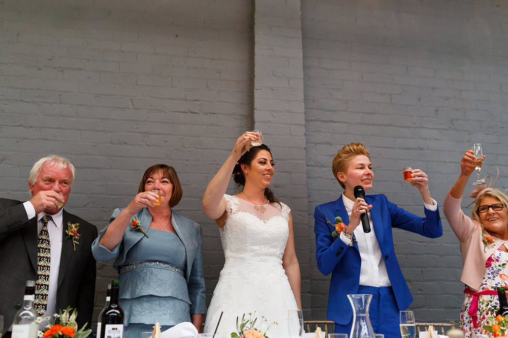 Liverpool wedding toast