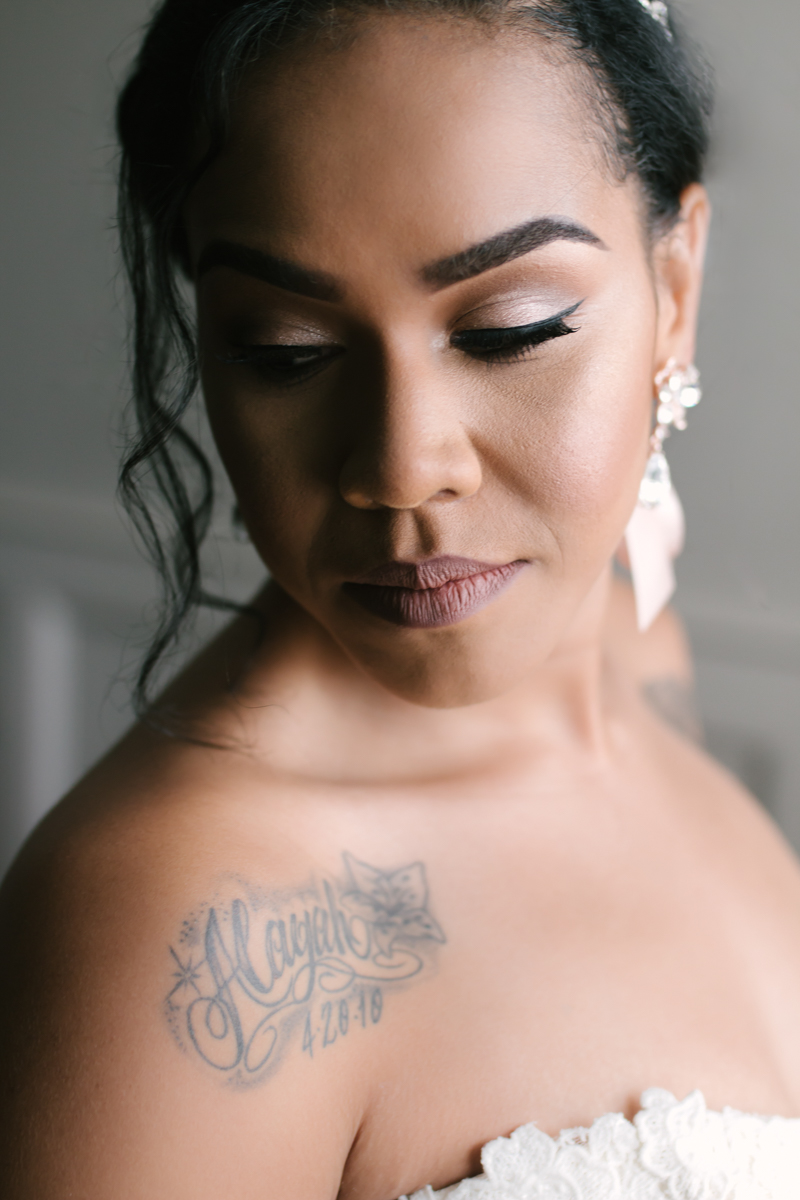 Black bride makeup inspiration