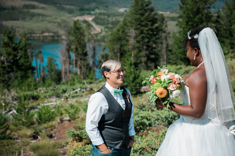 Mountain elopement first look