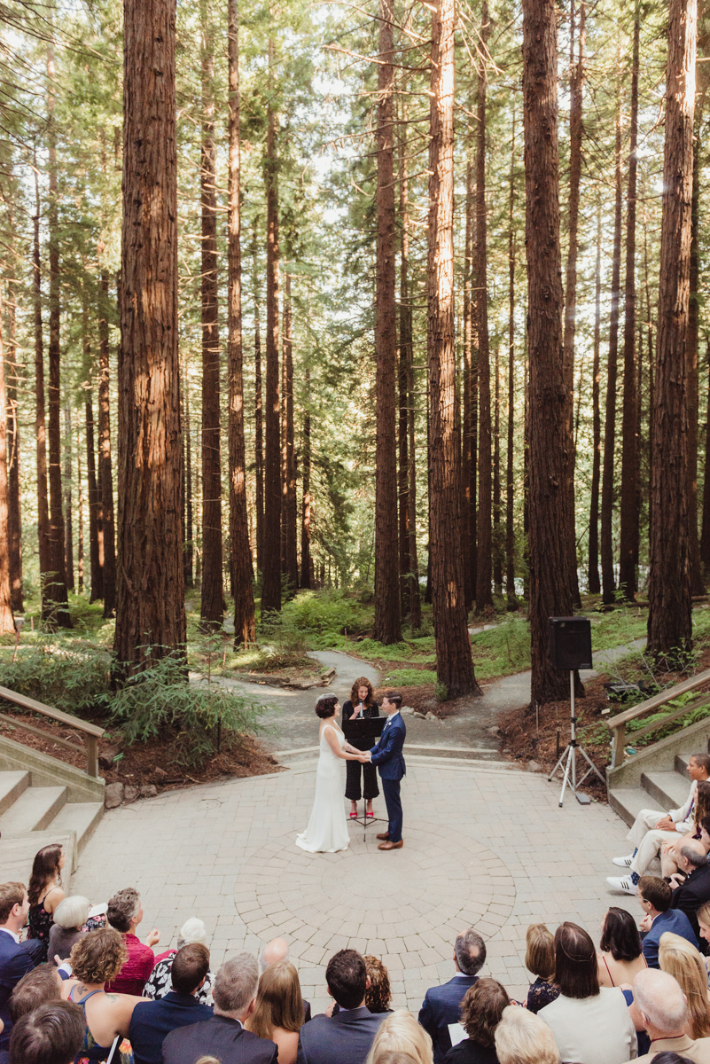 uc berkeley garden wedding ceremony