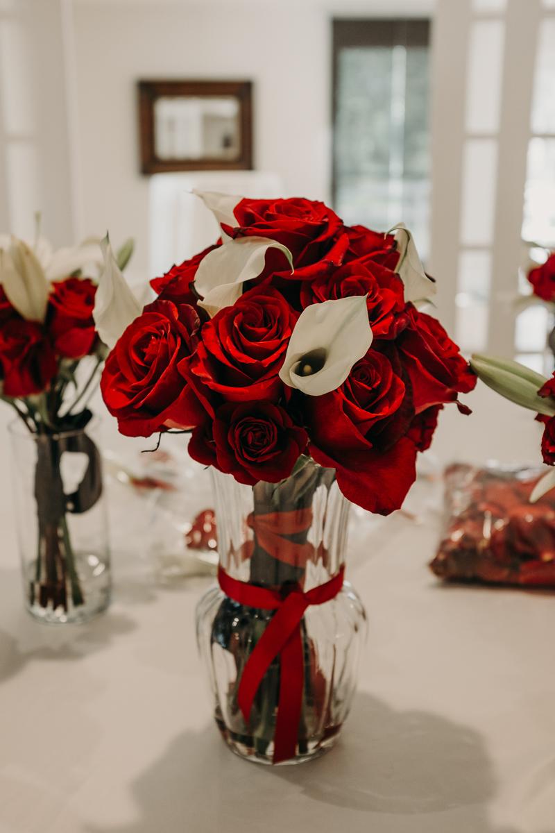 San antonio garden wedding flowers in vase