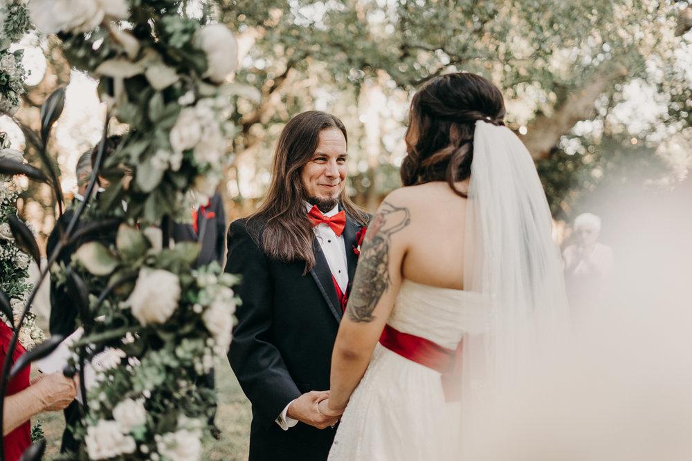San antonio garden wedding ceremony