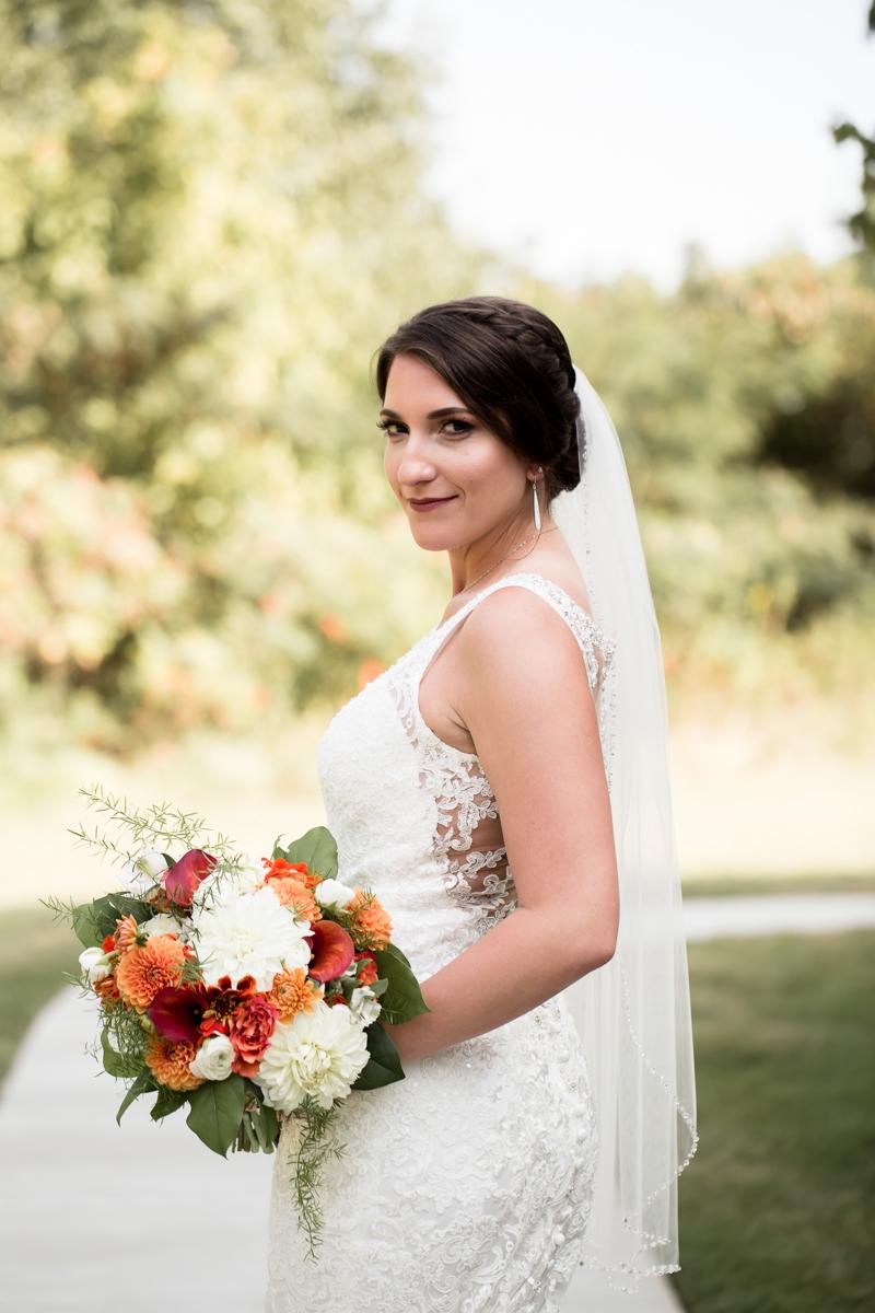 Ballroom wedding charlotte nc bride pose