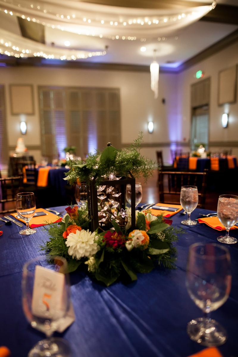Ballroom wedding charlotte nc reception table