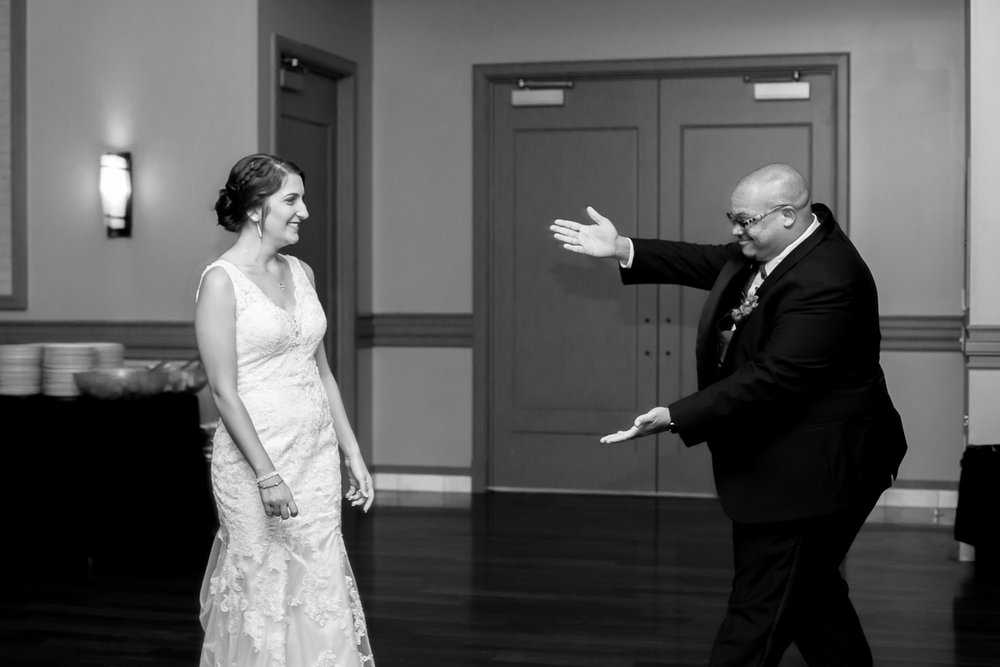 "Ballroom wedding charlotte nc groom ""presenting"" bride"