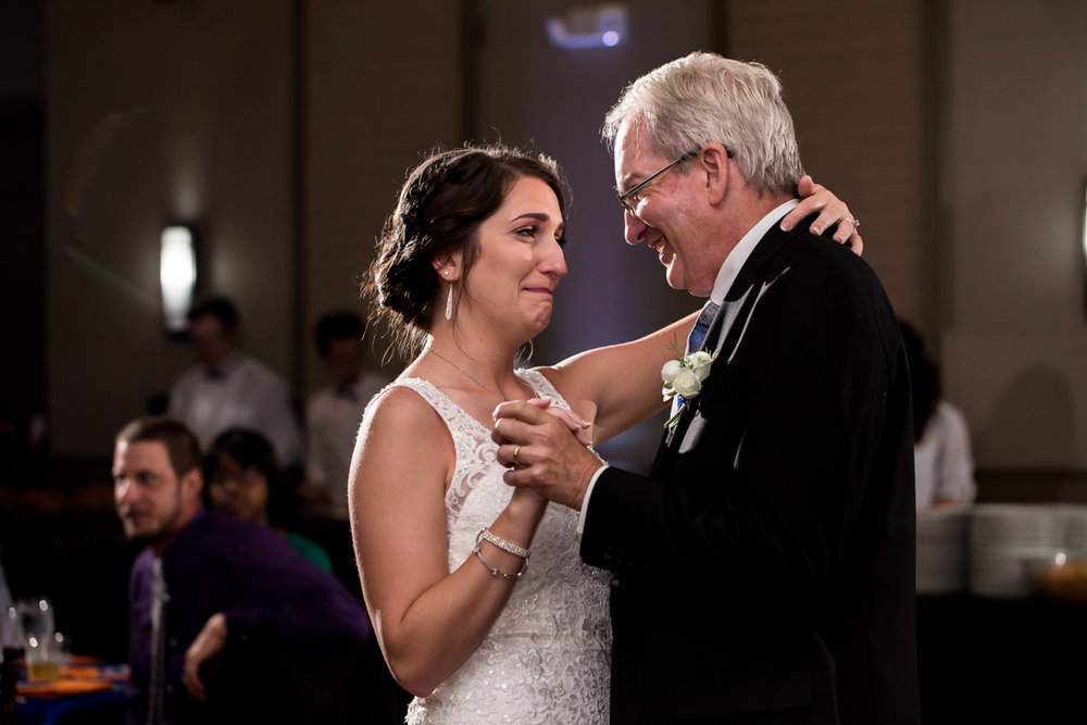 Ballroom wedding charlotte nc bride and father dance