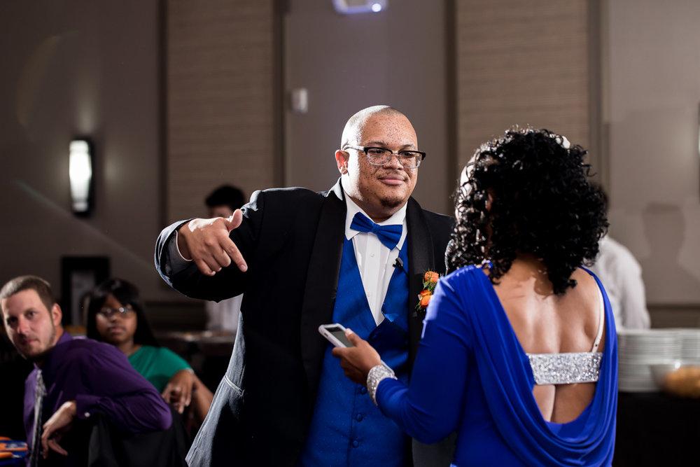 Ballroom wedding charlotte nc groom and mom