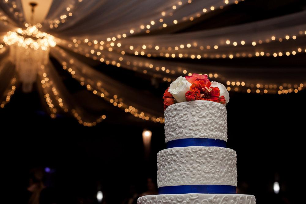 Ballroom wedding charlotte nc cake