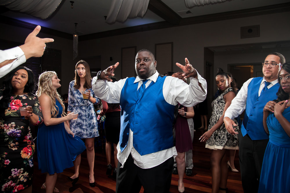 Ballroom wedding charlotte nc groomsman on dance floor