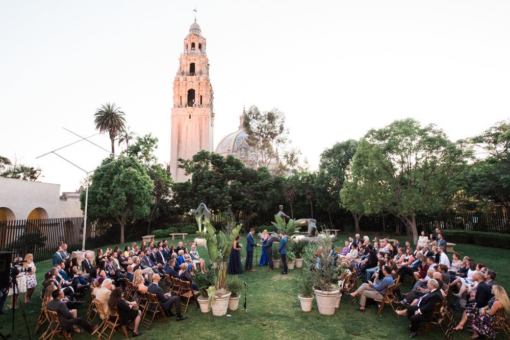 San Diego Museum of Art Wedding ceremony in garden