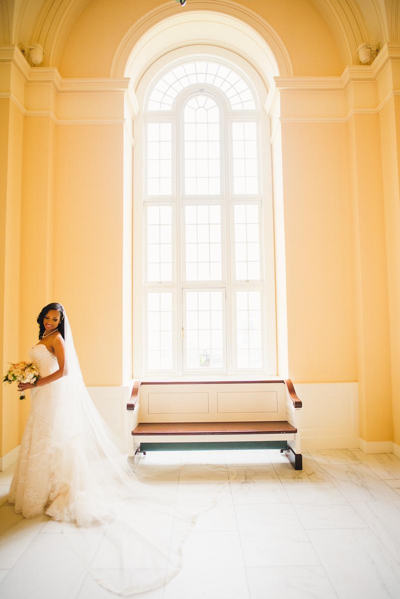 mount vernon ballroom wedding bride posing